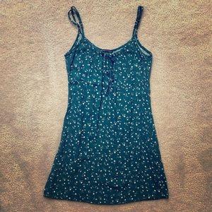 Brandy Melville Dark Green Floral mini dress